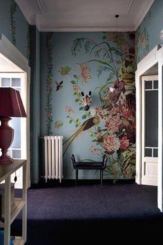 Wunderbar Www.wallanddeco.com Wandverkleidung, Wandbemalung, Wandmalereien, Tapete  Blumen, Tapeten Wohnzimmer