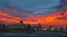 Aesthetic Desktop Wallpaper Sunset - 1280x720 - Download