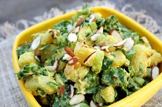 """If traditional Potato Salad was in a midlife crisis and its therapist asked, """"What would you be if you could be anything in the world,"""" it might say """"Curried Sweet Potato Salad!"""" It's distinctive, ..."""