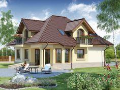 Projekat atraktivne kuće s potkrovljem i garažom – Svetonius Home Design Plans, Plan Design, Beautiful Home Designs, Beautiful Homes, Modern Bungalow House, Little Houses, Small Houses, Home Fashion, Architecture Design