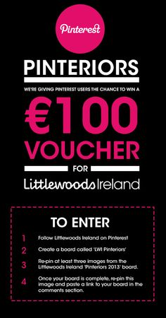 Pin It To Win It competition from Lttlewoods Ireland 2013