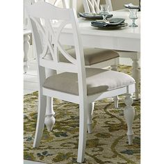 Liberty Summer Cottage White Splat Back Dining Chair (Summer Cottage White Splat Back Side Chair) (Pine)