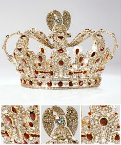 Coronet from replica of the ruby and diamond parure of Empress Marie Louise by Ninon et Fils, From the Foundation of Napoleon via Jeweller Magazine jewellery, crown, tiara, Royal Crown Jewels, Royal Crowns, Royal Tiaras, Royal Jewelry, Tiaras And Crowns, Silver Jewelry, Antique Jewelry, Vintage Jewelry, Faberge Eier
