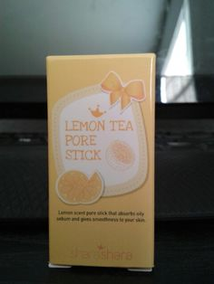 Shara Shara Lemon Tea Pore Stick.  Great mattifier!! My skin is just not as oily as it once was so I'm clearing out my oily skin stash.