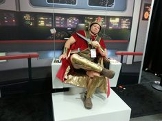 Rory from Doctor Who takes  over the Starship Enterprise! Comic Con 2016