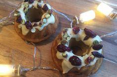 Mini tulbandcake met cranberry en pistache