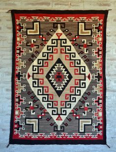 Crystal / Storm Pattern Navajo Weaving : Historic : GHT 2208 : x 6 – Nizhoni Ranch Gallery Navajo Weaving, Navajo Rugs, Hand Weaving, Southwestern Quilts, Southwest Art, Navajo Culture, Aztec Tribal Patterns, Arrow Pattern, Square Patterns