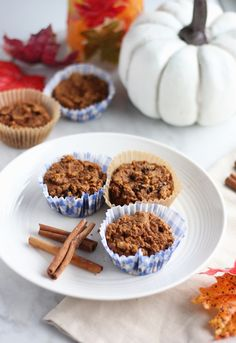 Paleo Pumpkin Spice Muffins (AIP) - delicious, healthy muffins for breakfast, brunch, or dessert! | fedandfulfilled.com