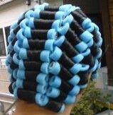 Blue rollerset