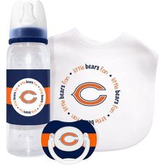 Baby Fanatic Chicago Bears 3 Piece Baby Gift Set, Multicolor