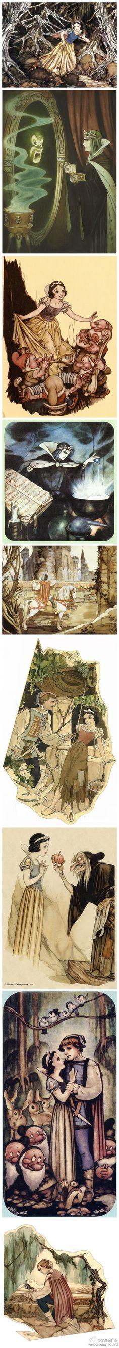 Gustav Tenggren's beautiful Snow White development art