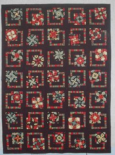 August Wind Quilting----if I ever find the right fabrics I am doing to do a 4 patch stacked posie in this manner