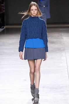 cerulean and powdery, dusty blues are officially the colors of fall 2014. topshop unique.