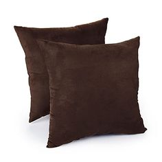 Sara's room -  Faux Suede Chocolate Decorative Pillows, 2-Pack at Big Lots.