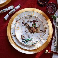 Twas The Night Before Christmas Salad Plates, Multi Set of 4 Christmas Salad Plates, Christmas China, Christmas Dishes, Winter Christmas, Christmas Place, Natural Christmas, Santa Christmas, Christmas Goodies, Christmas Stuff