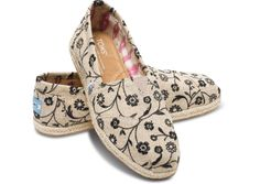 Embroidered floral women's classics hero. I think these may be my favorite Toms to date.