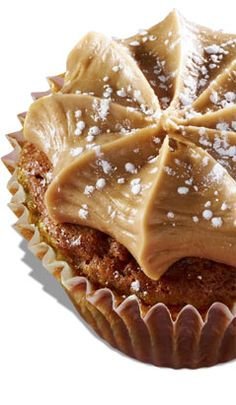 """Southern Comfort  - Gigi's Cupcakes (Picture only)   Pecan pie cupcake topped with a caramel frosting and dusted with powdered sugar.  """"I named this Southern comfort because every true Southerner loves pecan pie and this cupcake is so rich it tastes just like pecan pie. It's fabulous.""""  - Gigi"""