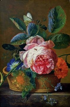 "1724, ""Bouquet of Flowers in an Urn"" - by Jan van Huysum"