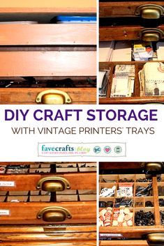 Creative Craft Supply Storage with Printers' Trays