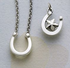 Horseshoe Necklace and Charm #jamesavery #jewelry