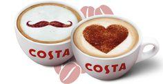 Příjemný start do nového týdne v Costa Coffee! Každé pondělí totiž při nákupu jedné kávy získáte druhou stejnou anebo levnější zdarma. A pokud zrovna není parťák po ruce, udělejte radost svému šéfovi či kolegovi! Donášku voňavé kávy přímo pod nos jistě ocení. Costa Coffee, Tableware, Dinnerware, Costa Cafe, Tablewares, Dishes, Place Settings