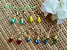 COMO ENGARZAR GOTAS EN DIFERENTES ESTILOS Con Cecy Love Bisuteria! Seed Bead Earrings, Beaded Earrings, Earrings Handmade, Handmade Jewelry, Drop Earrings, Wire Jewelry, Jewelry Crafts, Choker, Daisy Bracelet
