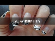 Nail Art Tutorial: Le Zèbre - zebra french manicure + video  |  Beauty Vlog