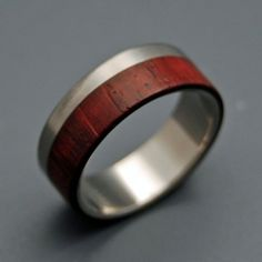 Unique men's wedding band. I'm pinning this for Ryan