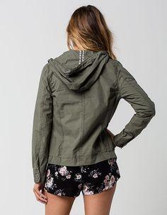 JOU JOU Womens Hooded Bomber Jacket