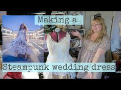 (26) Making a steampunk wedding dress (available made to order) Sewing a wedding gown - YouTube Steampunk Wedding Dress, When I Grow Up, Diy Fashion, My Outfit, Nice Dresses, Wedding Gowns, Fairy Tales, I Am Awesome, Tulle