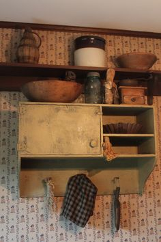 Primitive Wall Cupboard/Cabinet. $150.00, via Etsy.I love this!!!
