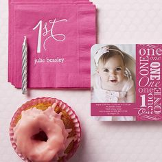 Your little one will outshine them all with this bright pink invitation.