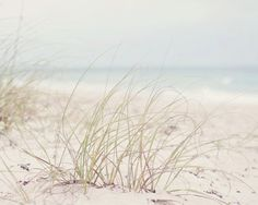 Florida Beach Photography - Fine Art Photograph - Landscape Photography - White Tan Blue Home Decor. $25.00, via Etsy.