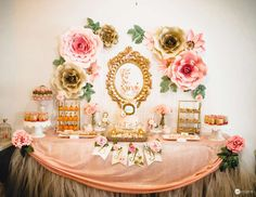 "Vintage / Retro / Baby Shower ""Floral baby shower"" 