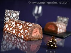 Bûche au chocolat et son insert framboise - 49 recettes de bûches