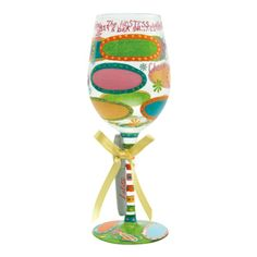 Designs by Lolita | Official Lolita Store |Hostess With The Mostest Personalize It Wine Glass | Hand Painted Wine Glass