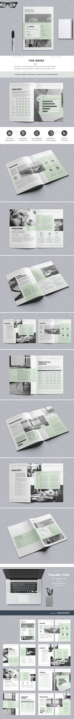 The Brief Brochure Template InDesign INDD. Download here: http://graphicriver.net/item/the-brief/14583467?ref=ksioks