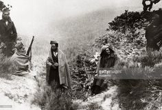 Spain - 1936. - GC - Red militiamen in the Sierra Guadarrama to the north of Madrid attempting to stop the patriot advance, With what started as a military uprising in Morocco, headed by General Franco, the fighting spread rapidly to start the Spanish Civil War, Outside support was provided by the International Brigade who helped the Republican cause and by Germany and Italy both allied to the Nationalists, Once Government resistance was exhausted, many of their p...