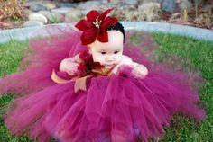 Luxury Poinsetta Girls Christmas Tutu Dress