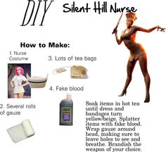 """DIY Halloween: Silent Hill Nurse"" by se-vaughn on Polyvore"