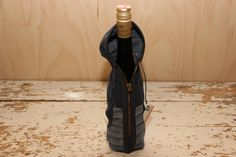 Denim wine bottle gift bag , Wine bottle denim coat , Denim hoodie , Wine bottle cover , Valentines Day gift , Wedding gift , Hostess gift by SecondBirthday on Etsy
