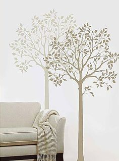 Large Tree stencil. Wall stencils, stencil designs for easy home decor.