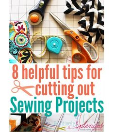 Amy's tips for cutting out sewing projects