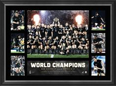 New Zealand All Blacks 2015 Rugby World Cup Lithograph