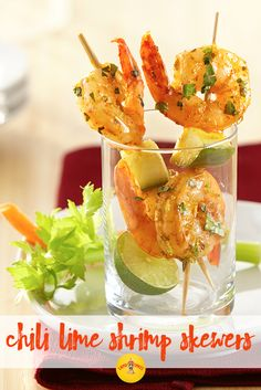 This flavorful chili lime shrimp is the perfect summer party appetizer. Serve on skewers for easy bite-sized servings!