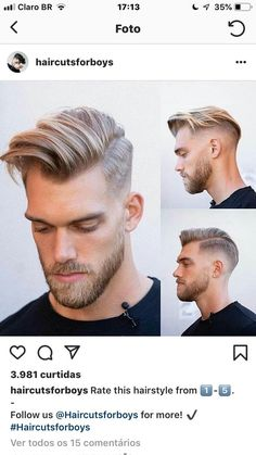 Hairstyles 2019 Haircuts for Man Hairstyles 2019 Haircuts for Man c Related posts:Lange Haare schneiden Stile - Frisuren 201948 Perfect. Curly Hair Cuts, Short Hair Cuts, Curly Hair Styles, Thin Hair, Cool Haircuts, Haircuts For Men, Haircut Men, Haircut Short, Beautiful Haircuts