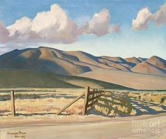 Nevada Hills by Maynard Dixon Giclee Canvas Print Repro Abstract Landscape, Landscape Paintings, Landscapes, Abstract Paintings, Art Paintings, Maynard Dixon, Western Landscape, Southwestern Art, California Art