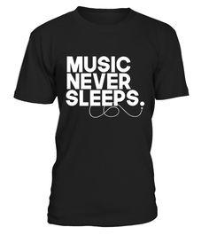Music Never Sleeps - Music Passion!  #gift #idea #shirt #image #music #guitar #sing #radio #art #mugs