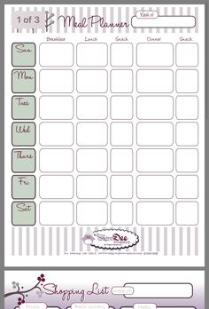 Plan B 21 Day fix meal planning template 1500-1799 calorie