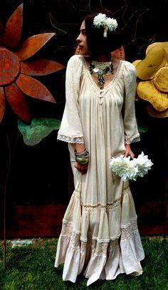 Woodstock Hippie Boho Wedding Dress
